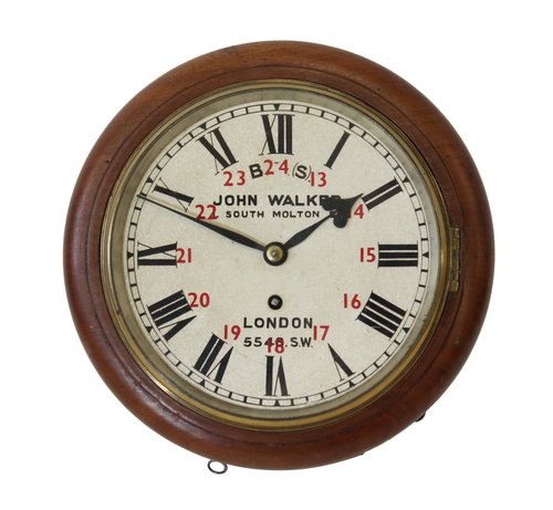 8 Inch Dial Railway Clock From Effingham