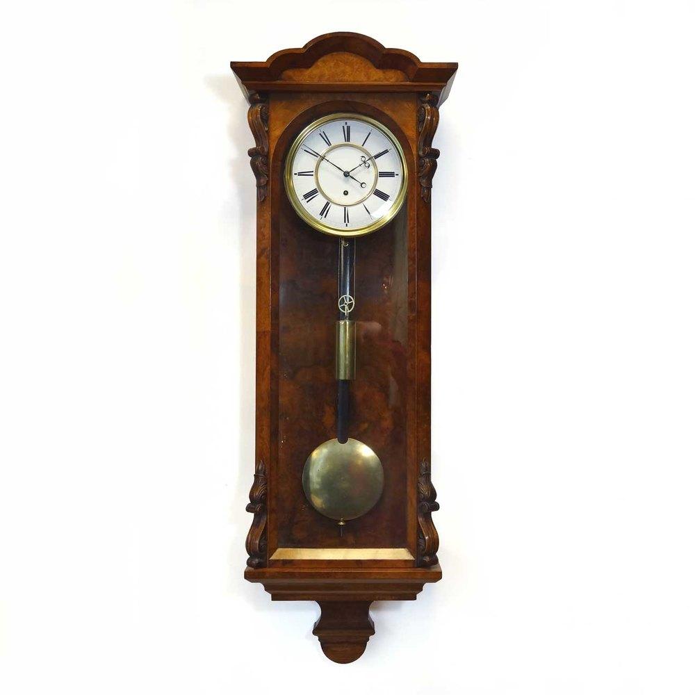 Antiques Atlas - Antique Walnut Timepiece Vienna Regulator