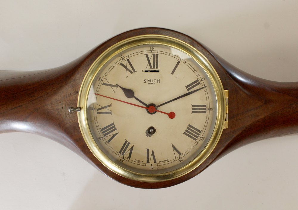 Antiques Atlas Biplane Wooden Aircraft Propeller With Clock