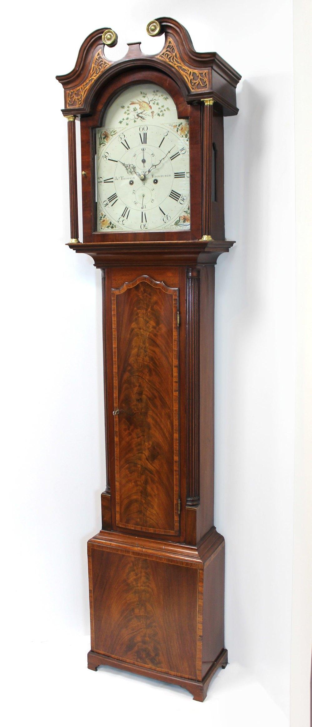 Antiques Atlas Grandfather Clock By J Thomson Edinburgh