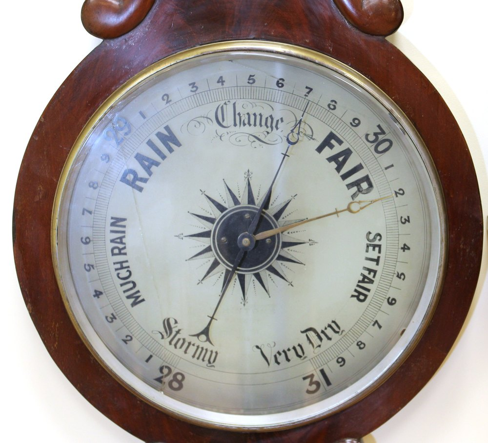 Antiques Atlas Mahogany Barometer With A Translucent
