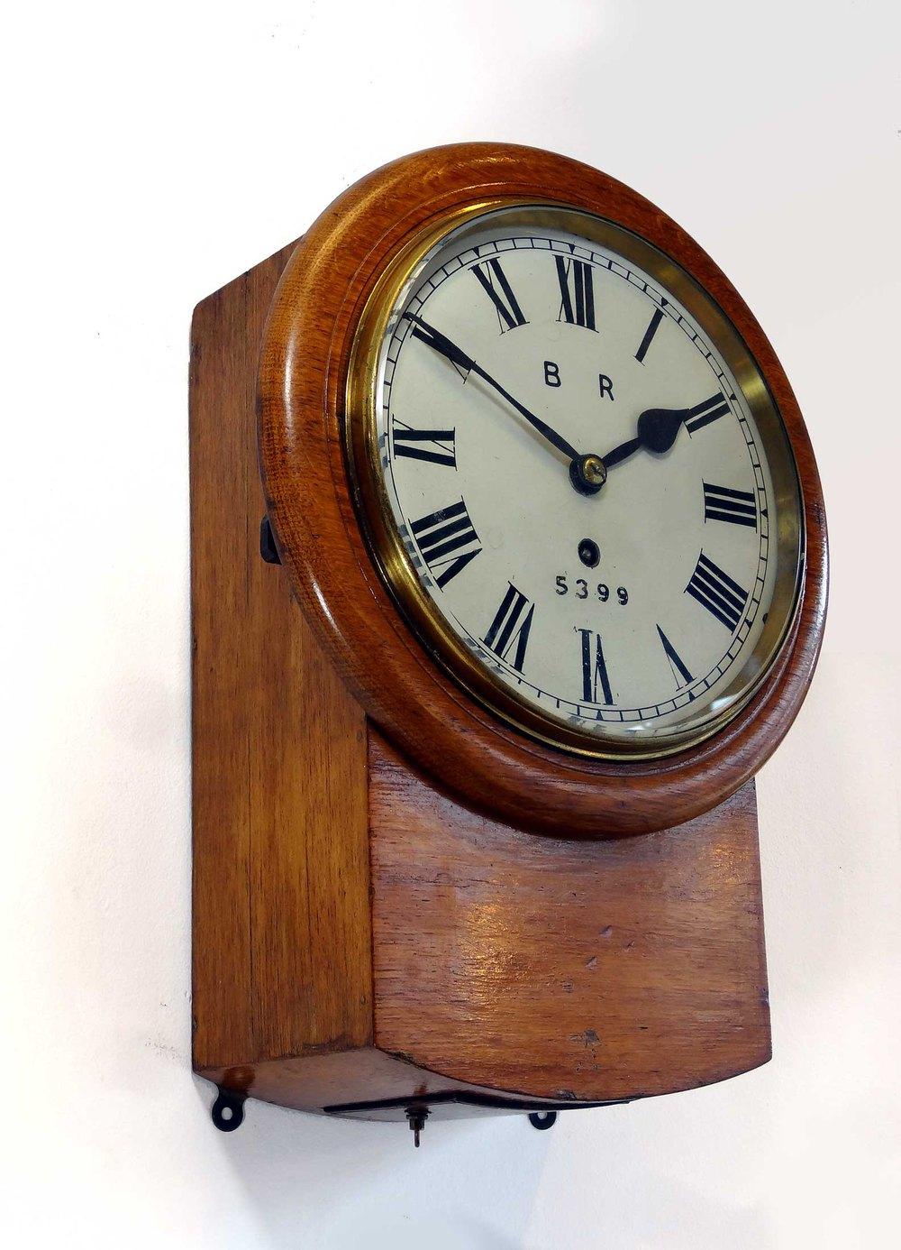 Small Victorian North Eastern Railway Clock