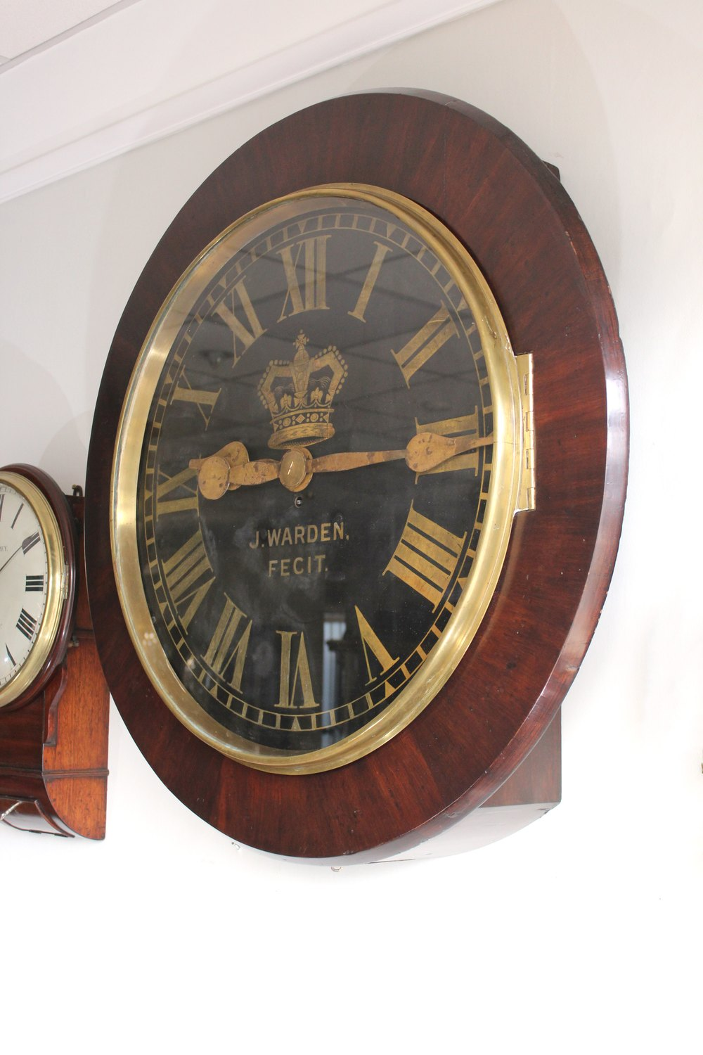 Antiques Atlas Very Large Antique Wall Clock By J Warden