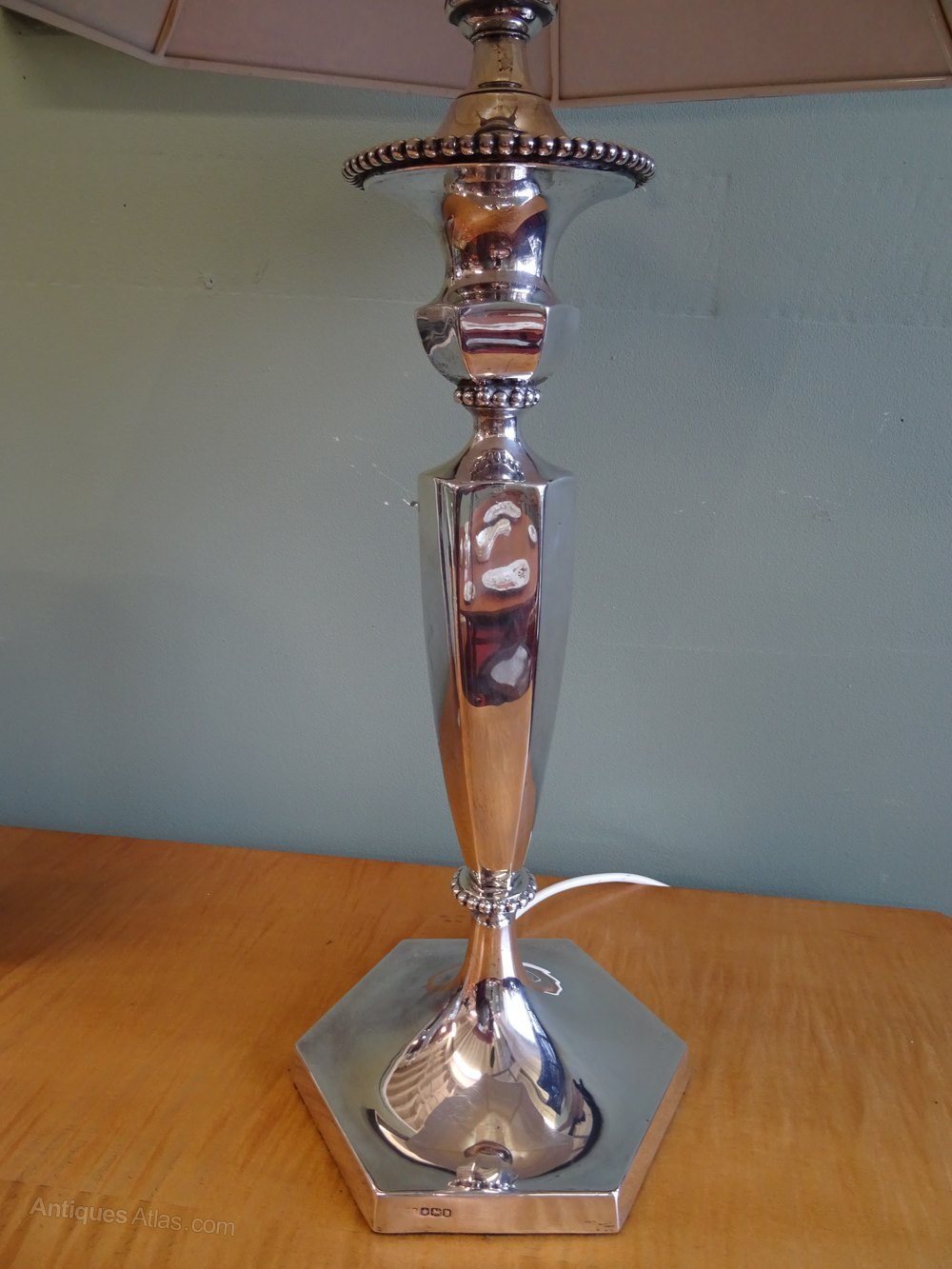 Antiques Atlas Art Deco Silver Table Lamp Base