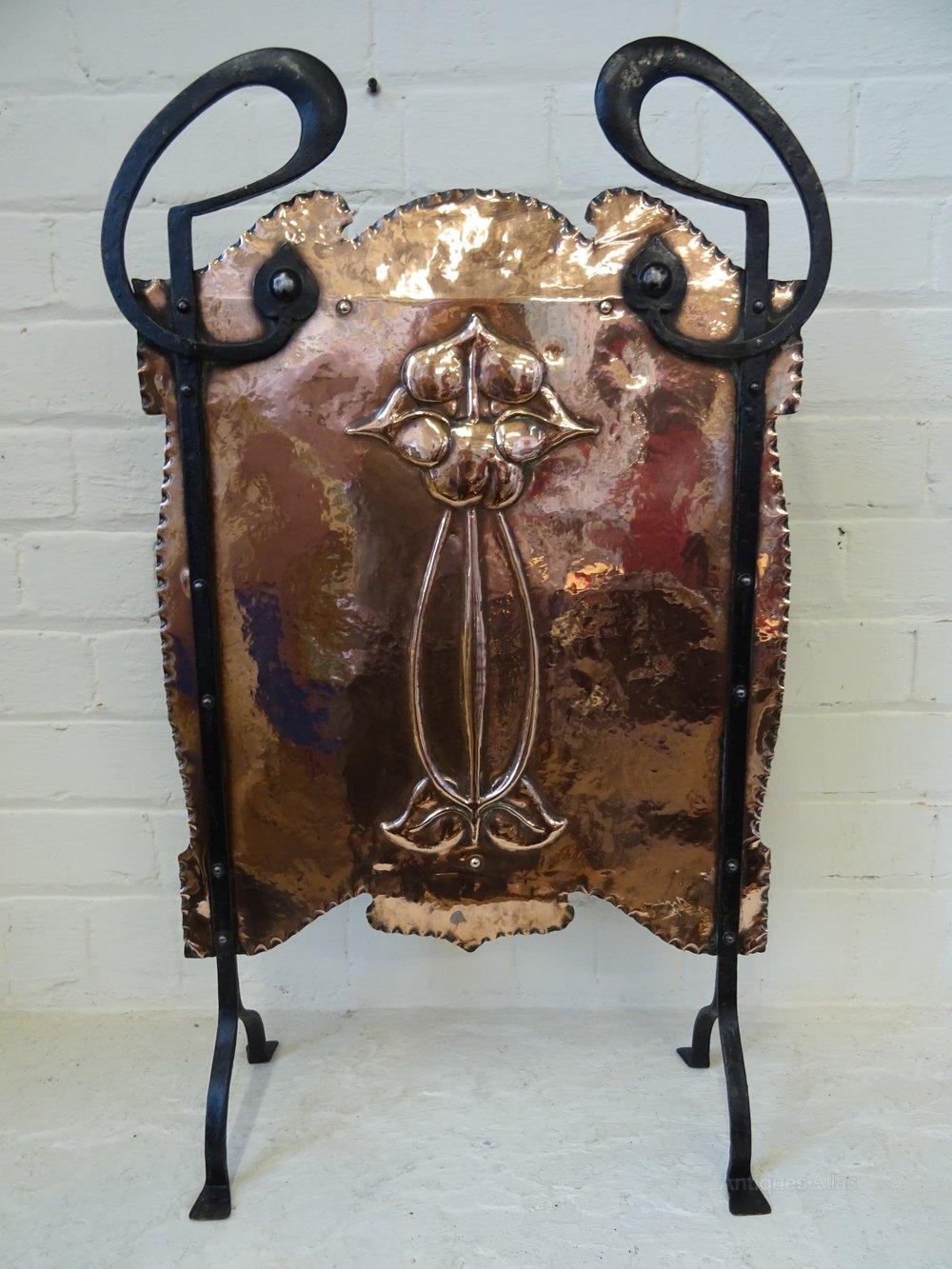 Antiques Atlas Art Nouveau Copper Amp Wrought Iron Fire