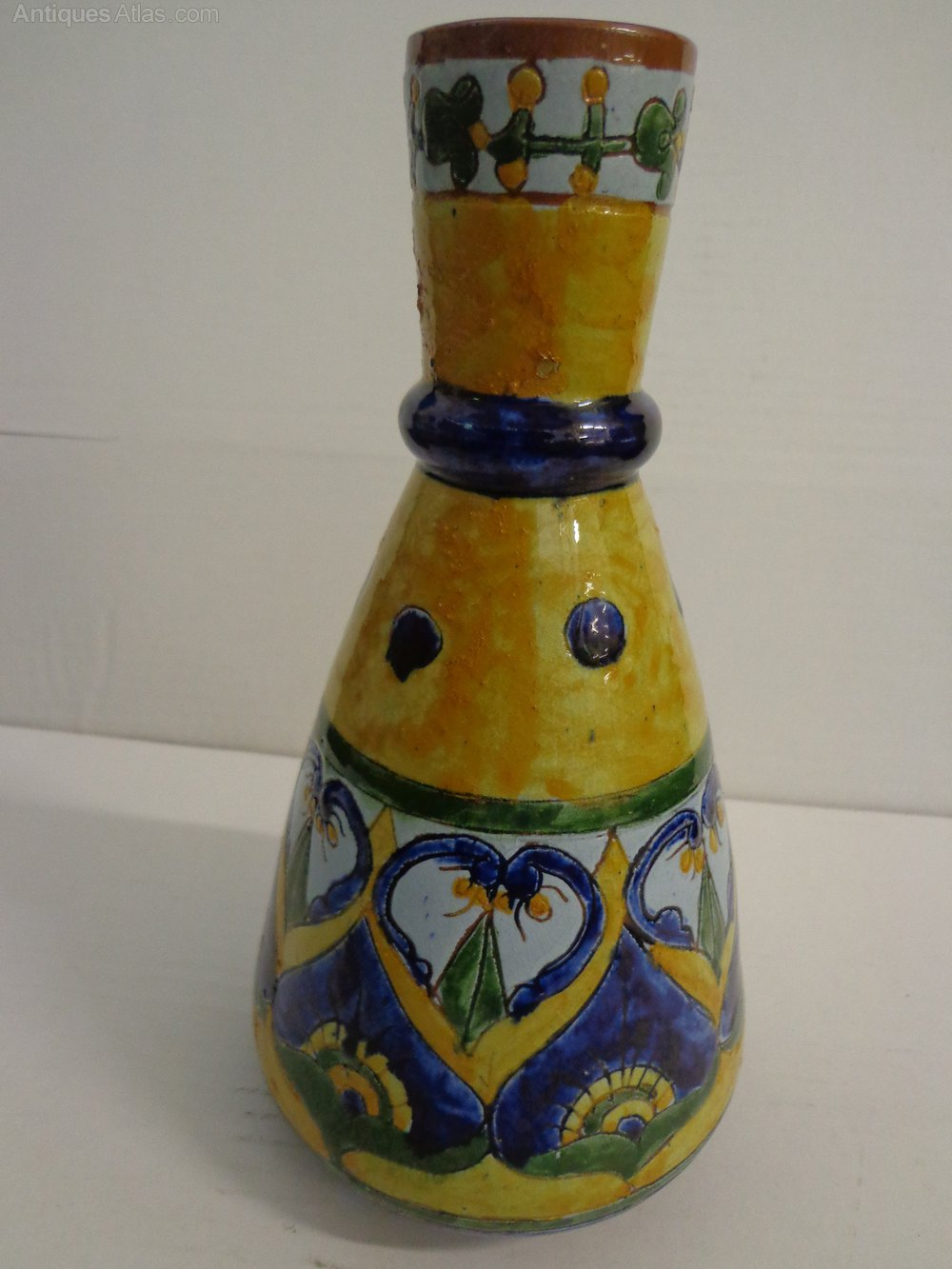 Antiques atlas carlo manzoni art pottery vase other makers carlo manzoni minerva art ware manufacturers reviewsmspy