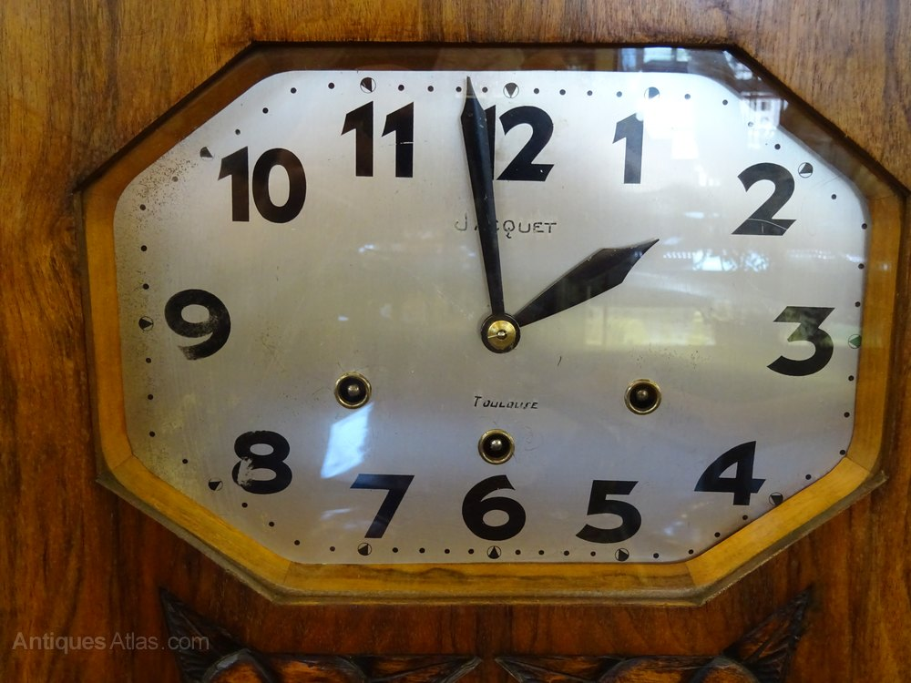 Antiques Atlas French Art Deco Wall Clock