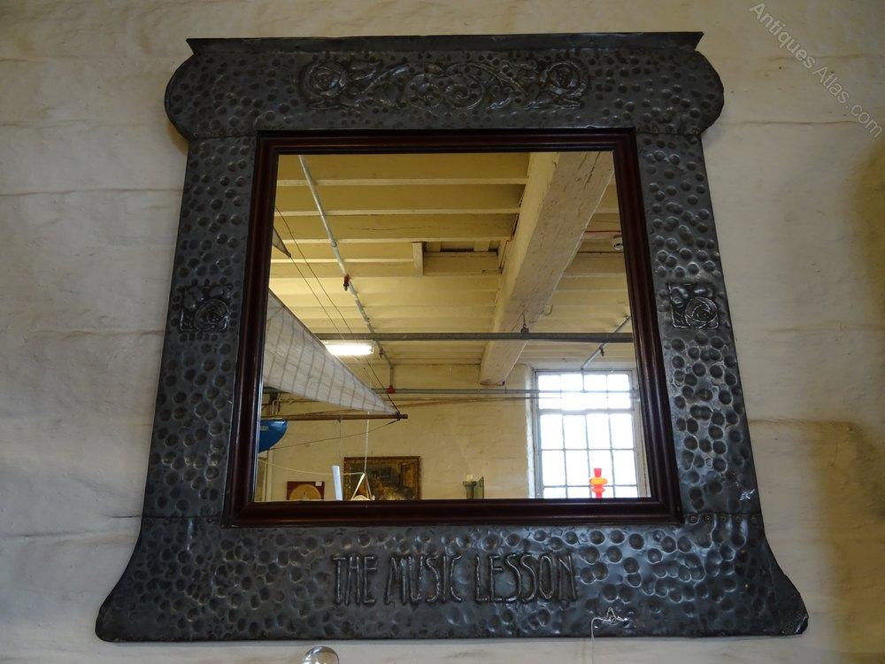 Antiques Atlas Large Arts Amp Crafts Pewter Framed Wall