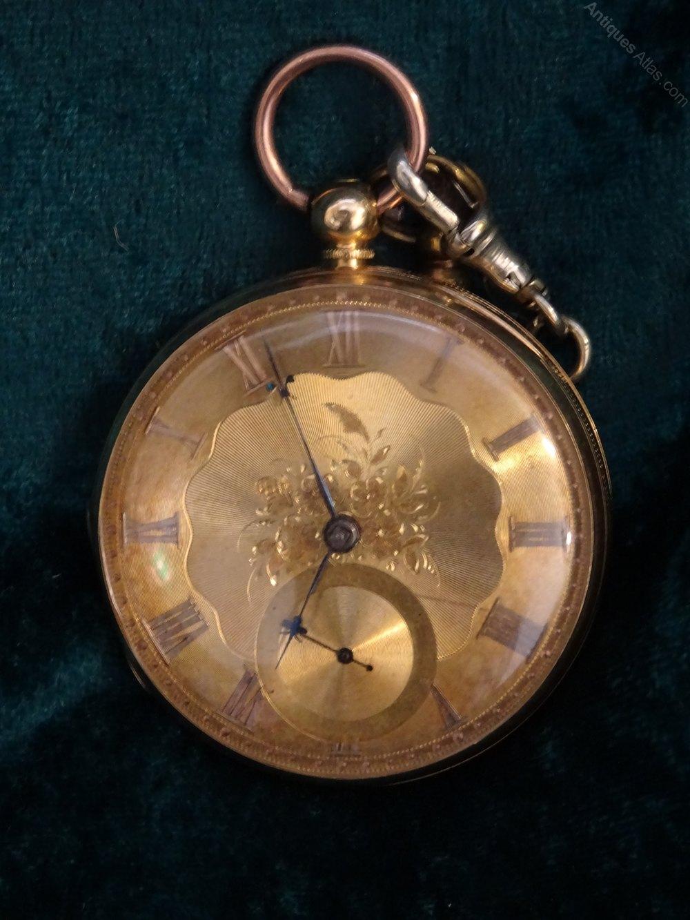 Antiques Atlas - Victorian 18ct Gold Genteman's Pocket Watch. | 1000 x 1333 jpeg 178kB