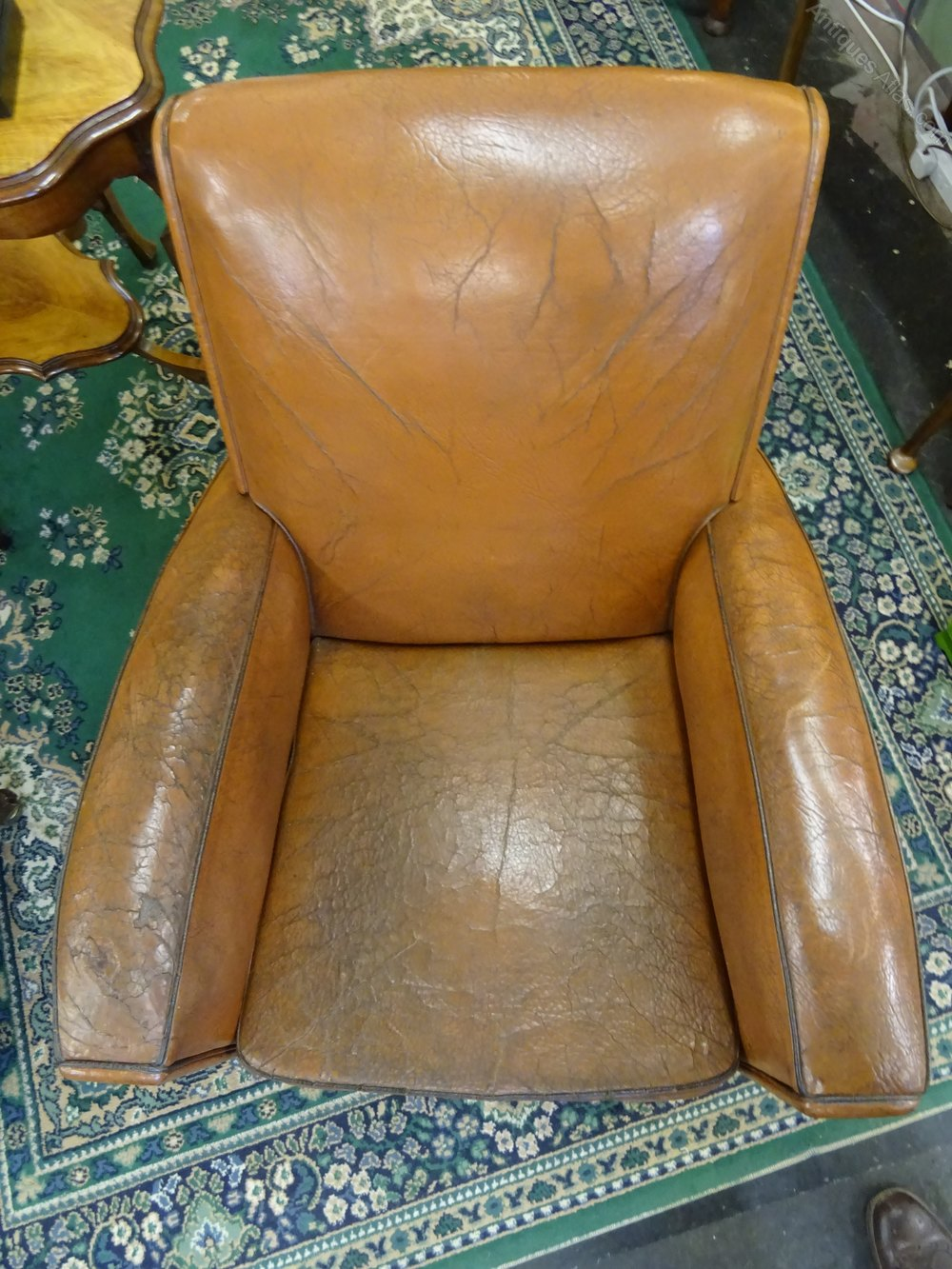 Antiques Atlas Vintage French Leather Club Chair