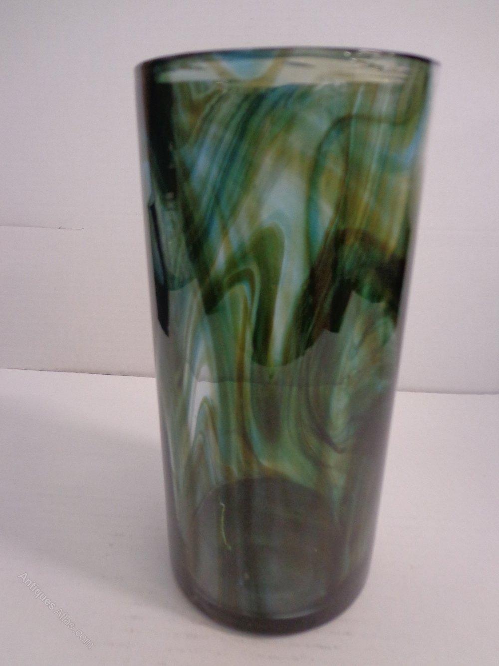 Antiques Atlas Whitefriars Green Vase By Geoffrey Baxter
