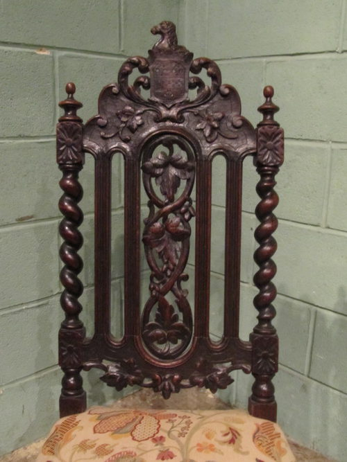 - Antique Carved Black Forest Hall Chair C1880 - Antiques Atlas
