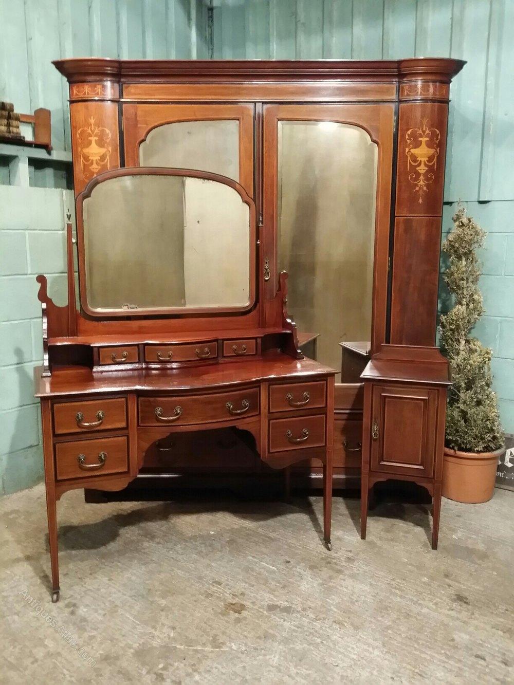 Antique Edwardian Mahogany Bedroom Suite C1900 Antiques Atlas