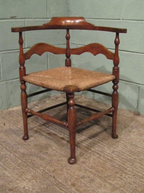 Antique Georgian Country Oak Corner Desk Chair ... - Antique Georgian Country Oak Corner Desk Chair - Antiques Atlas