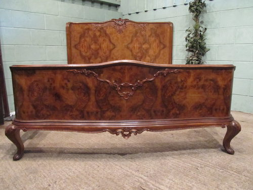 antique king size bed Antique Italian Burr Walnut King Size Bed C1900   Antiques Atlas antique king size bed