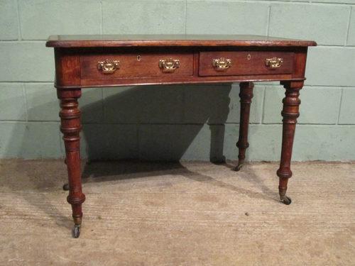 Antique Victorian Oak Writing Desk C1880 Antiques Atlas
