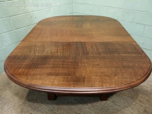 Large Victorian Tiger Oak Extending Dining Table Antiques Atlas