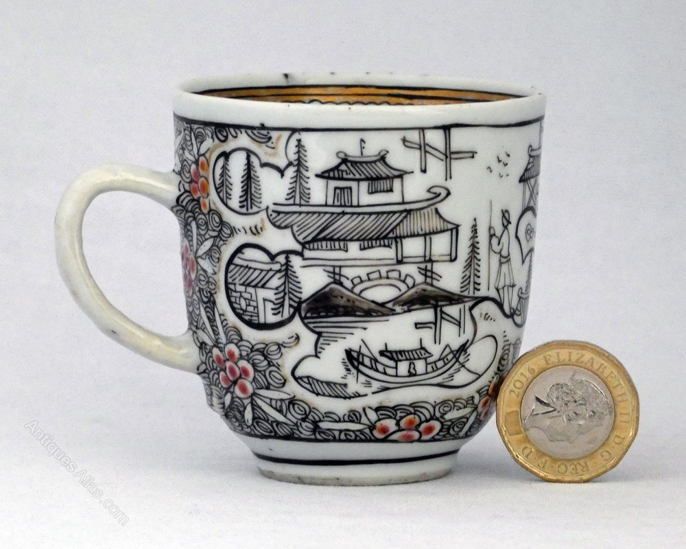Antiques Atlas - Chinese En-grisaille London Decorated Cup