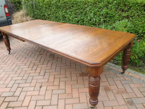 d5e5020207f6 Large Antique Oak Extending Dining Table - Antiques Atlas