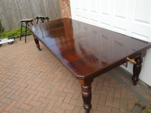 Large Antique Walnut Extending Dining Table Antiques Atlas