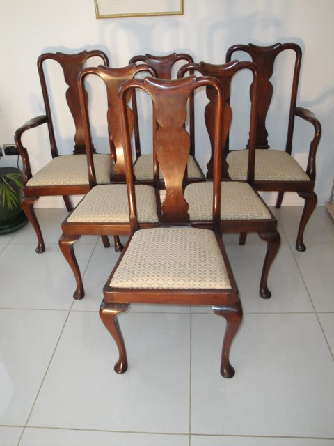 Attrayant Set 6 Antique Mahogany Dining Chairs ...