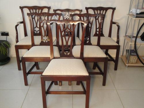 Set 6 Antique Mahogany Dining Chairs ... - Set 6 Antique Mahogany Dining Chairs - Antiques Atlas