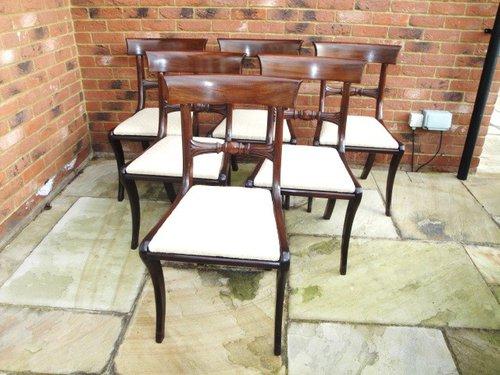Set 6 Antique Regency Mahogany Dining Chairs ... - Set 6 Antique Regency Mahogany Dining Chairs - Antiques Atlas