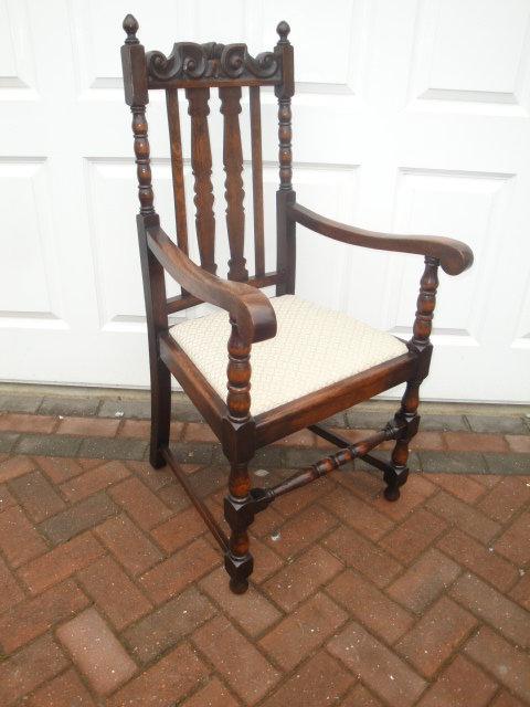 Set Ten Antique Oak Jacobean Style Dining Chairs Set of 10 Antique Dining  Chairs - Set Ten Antique Oak Jacobean Style Dining Chairs - Antiques Atlas
