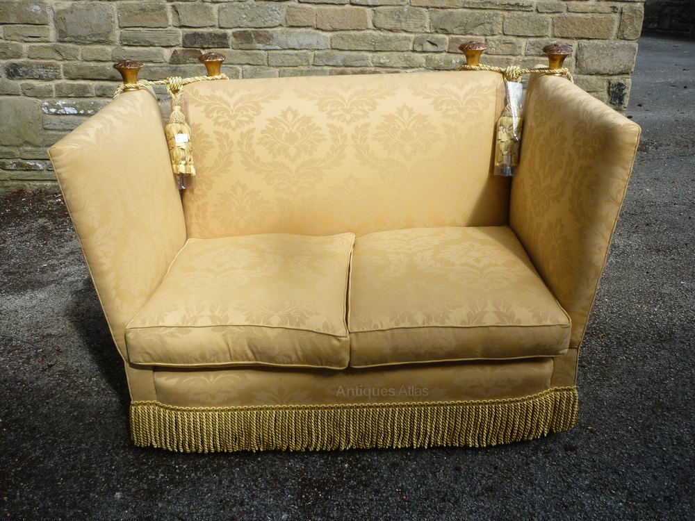 1920s Knole Settee Very Small Compacted Antique Seats Sofa