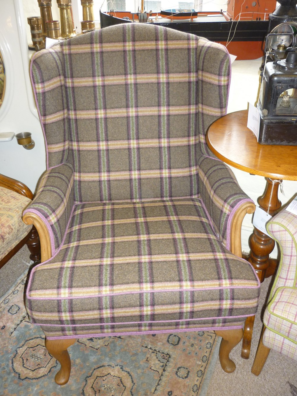 Superieur 1950s Criterion Cord Retro Wing Chair ...