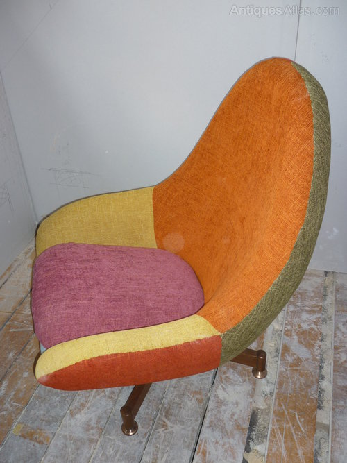 Egg Chairs 1960s Retro Patchwork