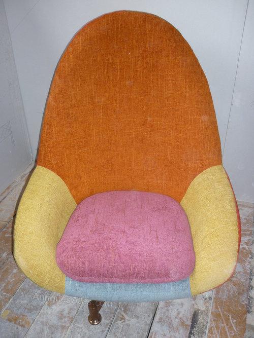 1960u0027s Retro Egg Chair Restored.