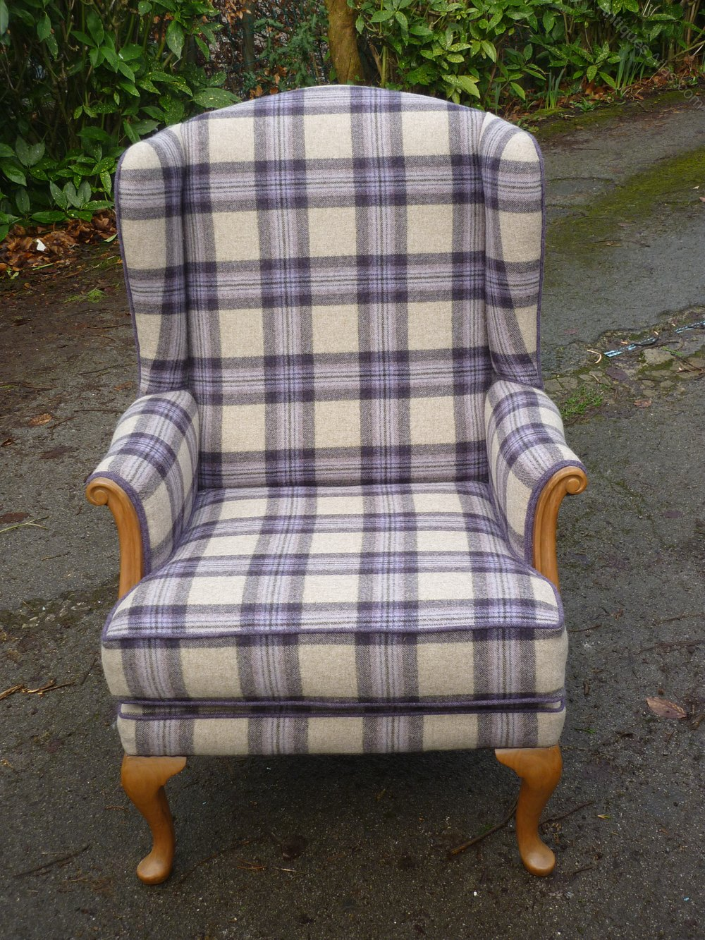A Retro Criterion Cord Wing Arm Chair Restored - Antiques Atlas