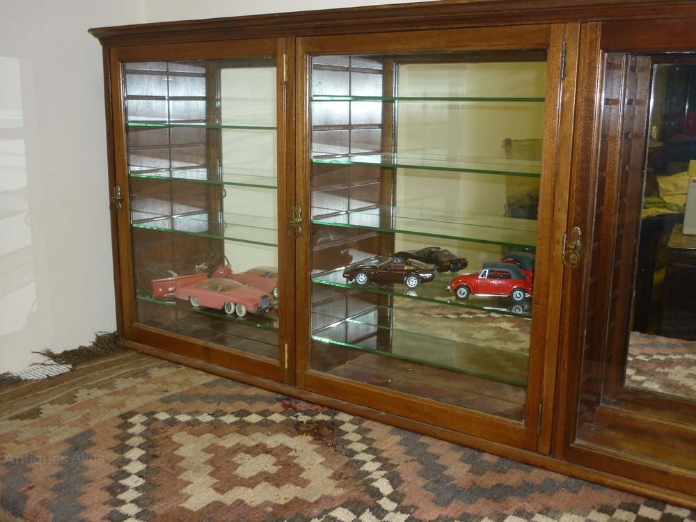 ... Antique Shop Display Cabinets ... - Victorian Shop Display Cabinet, Mirrors & Glass - Antiques Atlas