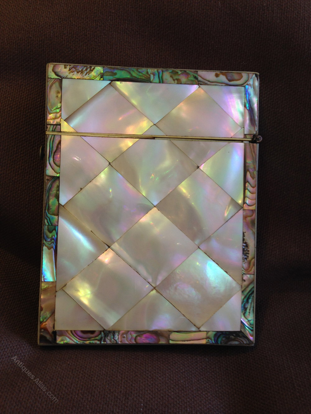 Antiques Atlas - Victorian Mother Of Pearl & Abalone Calling Card Case