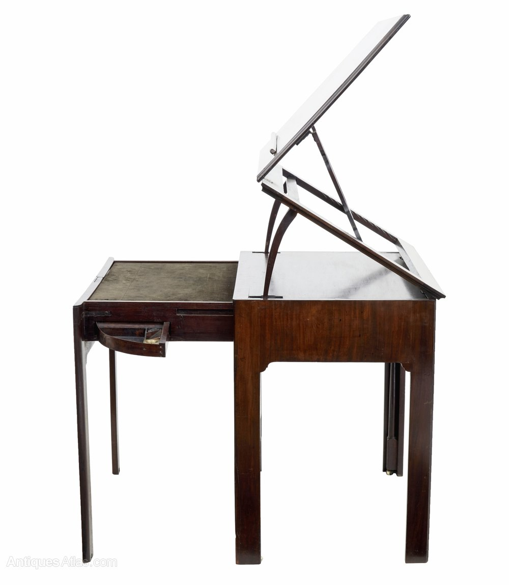 Architects Desk fine quality georgian mahogany architects desk - antiques atlas