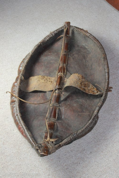Antiques Atlas - 19th Century African Maasai Hide Shield