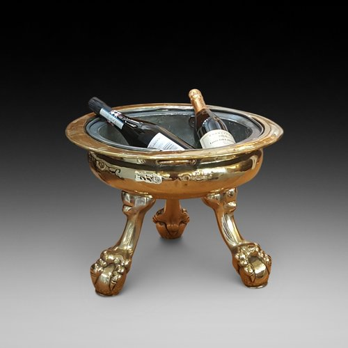 19th Century Brass Wine Cooler