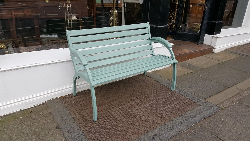Art Deco Style Garden Bench Antique Garden Benches ... - Antiques Atlas - Art Deco Style Garden Bench