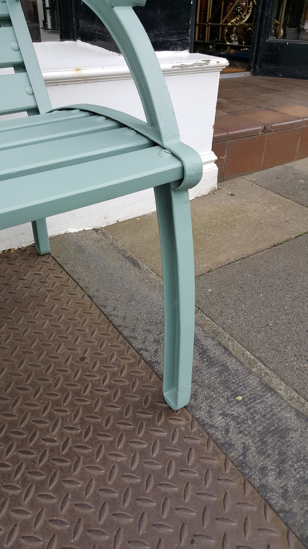Picture of: Art Deco Style Garden Bench Church Street Antiques