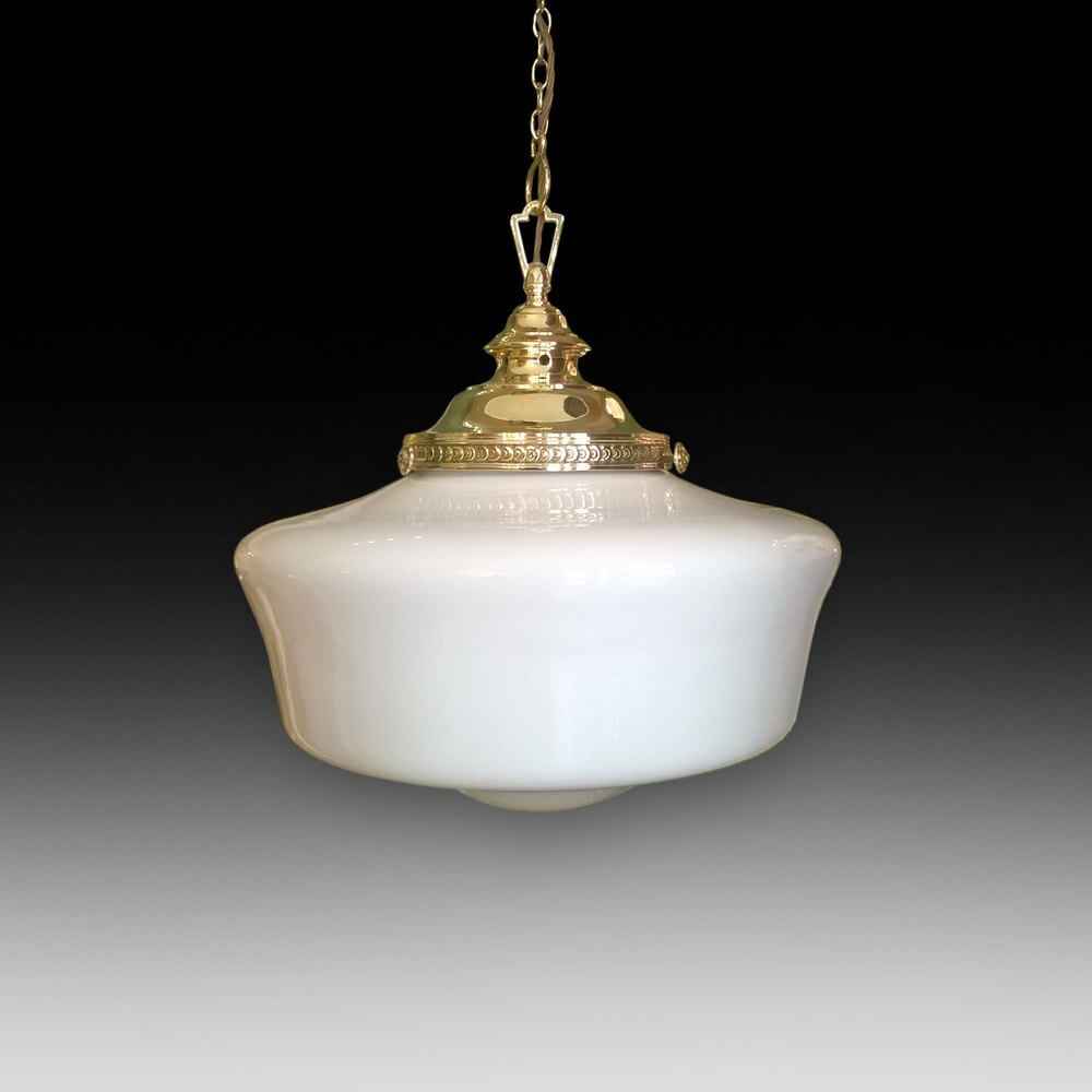 Edwardian Brass Ceiling Light Fitting ... & Antiques Atlas - Edwardian Brass Ceiling Light Fitting
