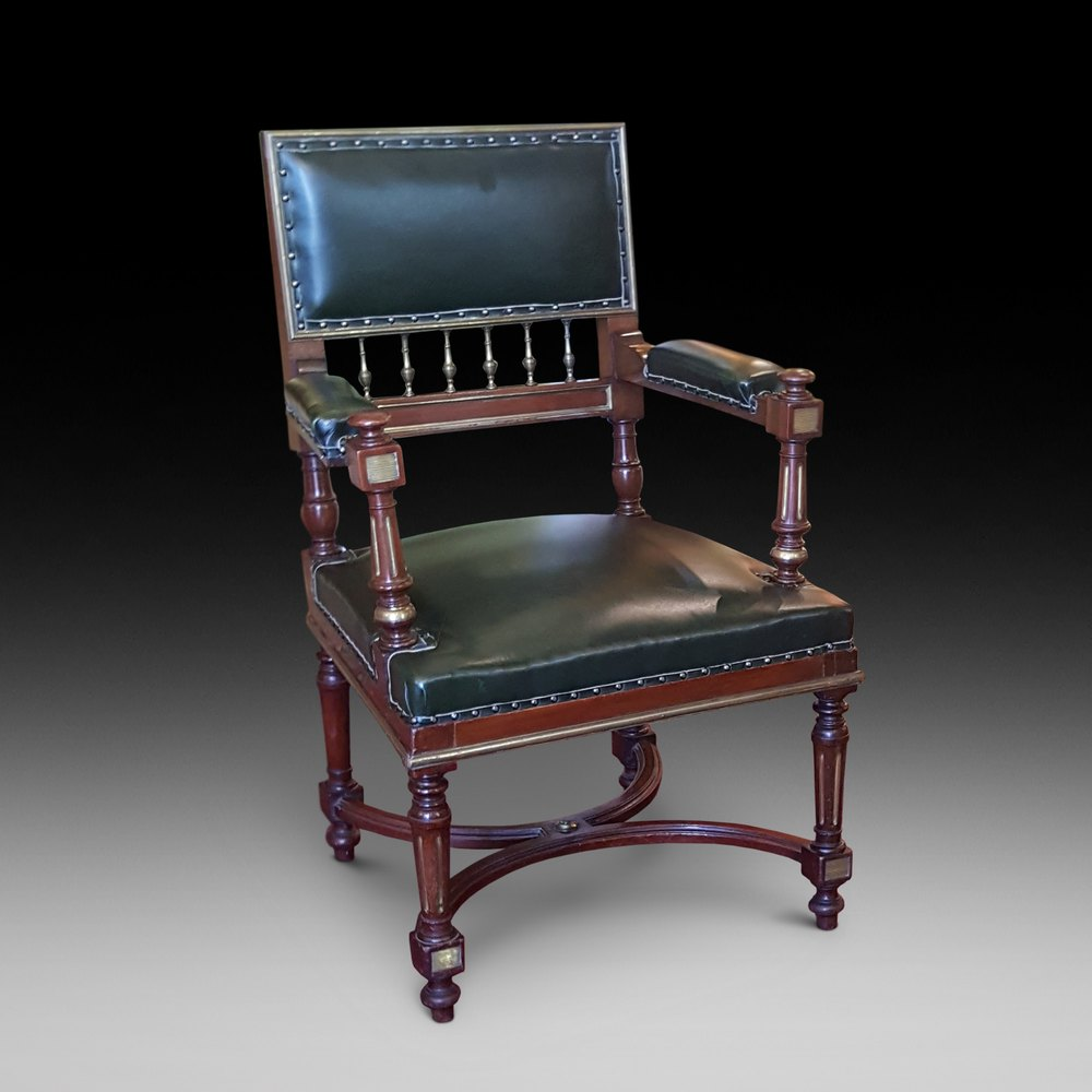 French Mahogany Desk Chair Antiques Atlas