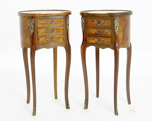 Pair Of French Bedside Cabinets Antique