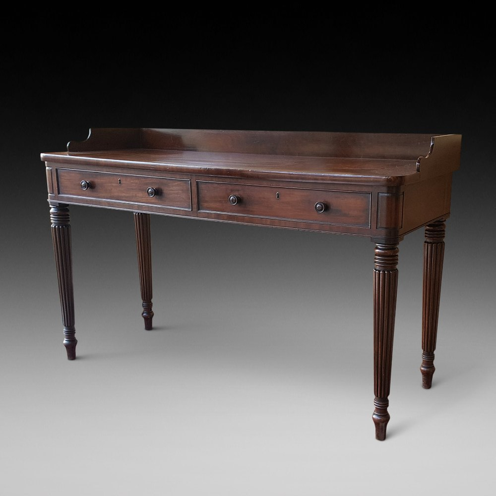 mahogany console table regency mahogany console table antiques atlas 3947