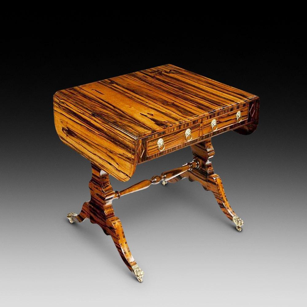 Antique sofa table - Regency Coromandel Wood Sofa Table Antique Sofa Tables