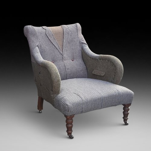 Victorian Armchair Upholsterd as a Jacket
