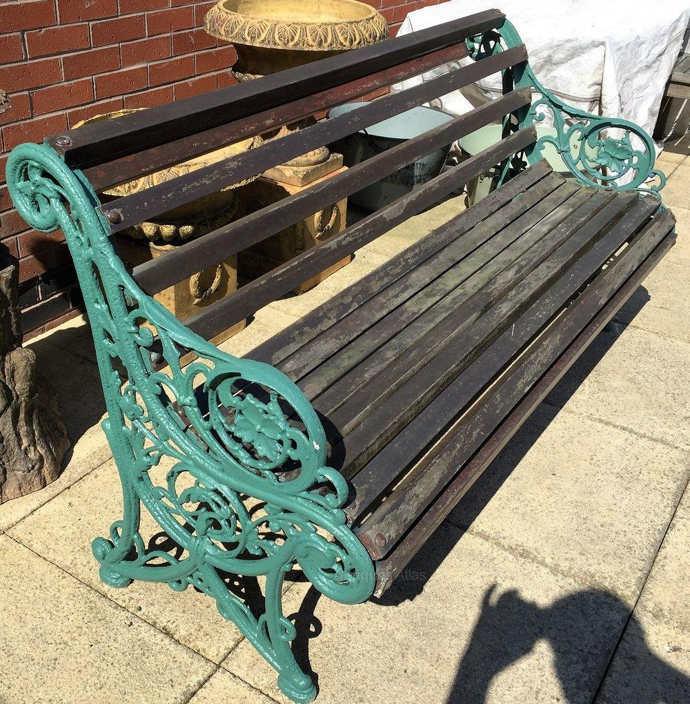 Antiques Atlas Victorian Cast Iron Garden Bench Hardwood Slats