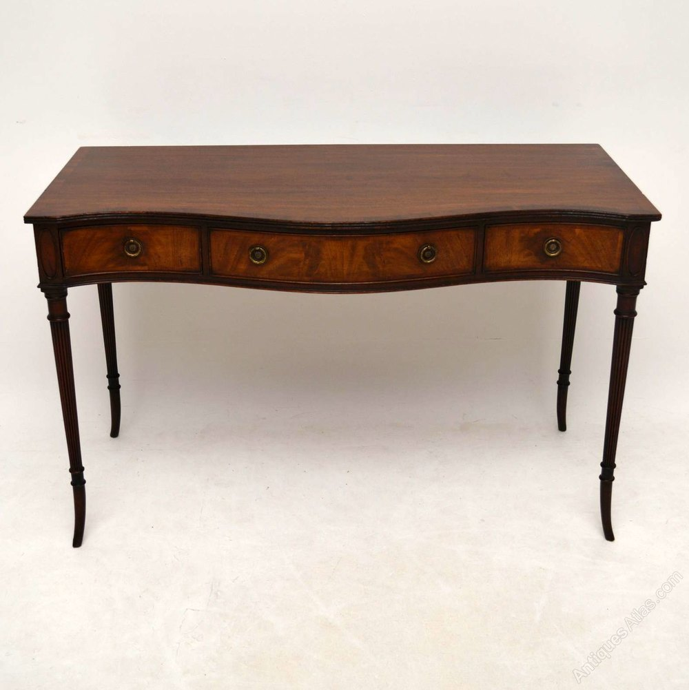Antique mahogany serpentine console table antiques atlas