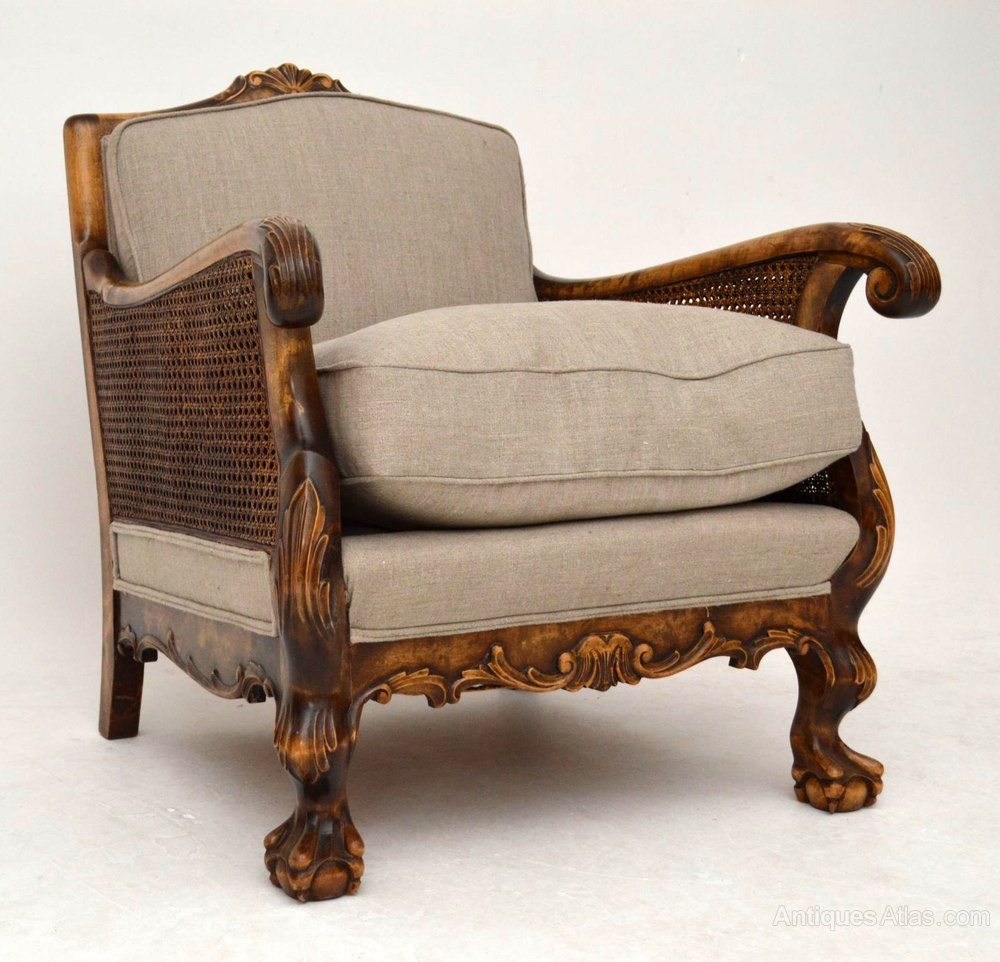Pair Of Antique Swedish Bergere Armchairs - Antiques Atlas