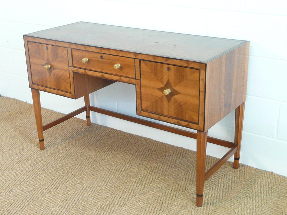 Art Deco Inlaid Walnut Desk By Bath Cabinet Makers ...